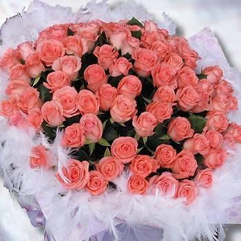 【特價花束】《與你久久》99朵玫瑰花束粉