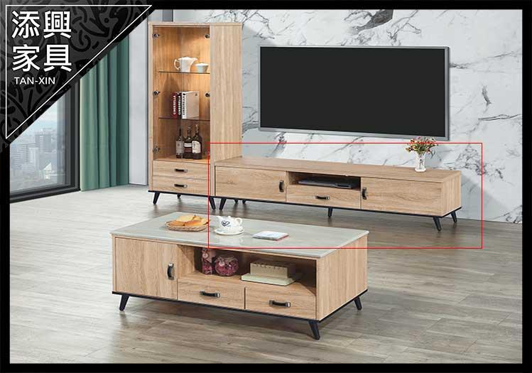 【電視櫃】 【添興家具】 D111-2 6尺電視櫃(TB09)  大台北地區滿5千免運