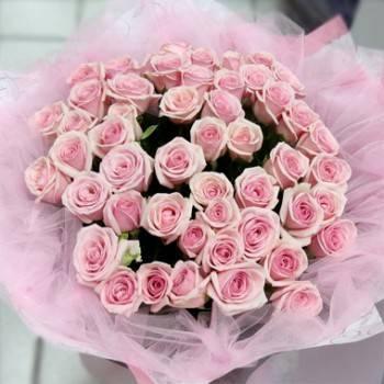 《無限愛意》60朵無限的愛粉玫瑰花束