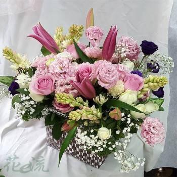 《滿載幸福》精緻提籃盆花