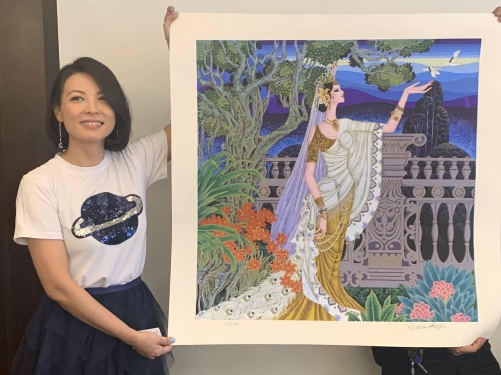 謝謝陳孝萱金鐘影后為這次的藝術與離癌公益拍賣會出席 賀!圓滿成功