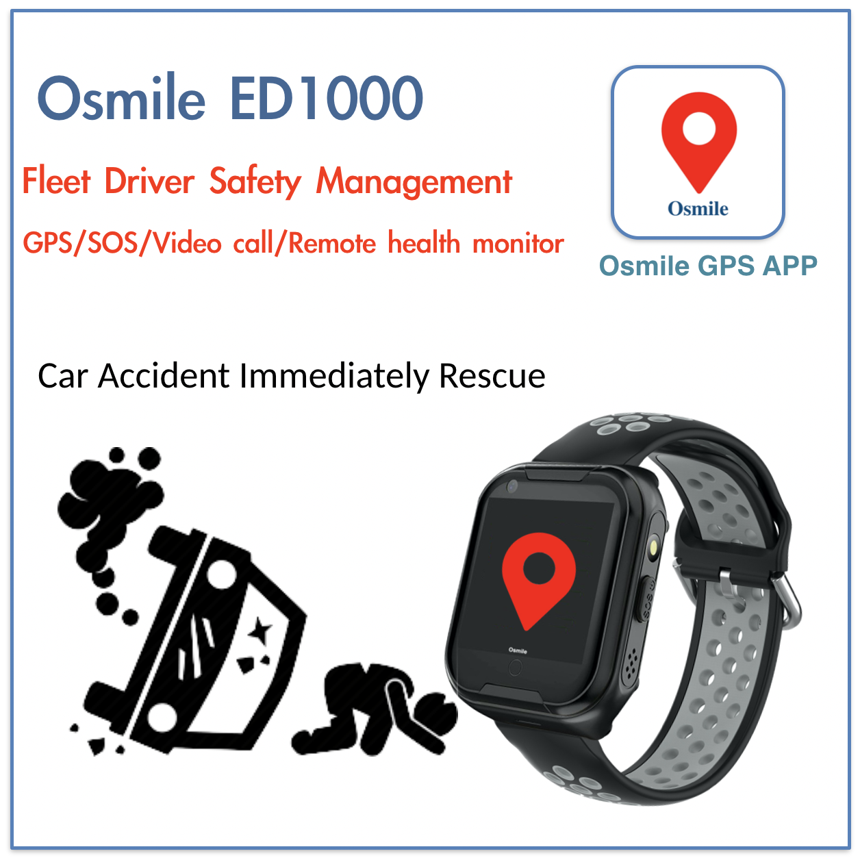 Osmile ED1000 - GPS Tracker Watch for Fleet Driver Security Management up to 50 Drive1