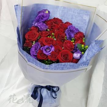 紅玫瑰花束【紫愛深情】