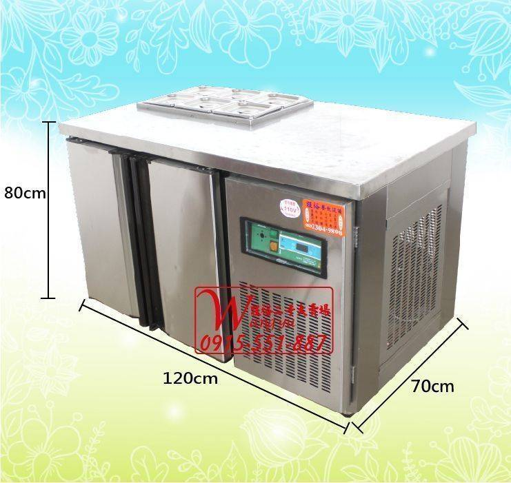 A6183沙拉工作冰箱4尺/4尺工作台冰箱/配料吧檯冰箱/風冷工作台冰箱/全藏工作台冰箱/沙拉吧台冰箱/4尺工冰/臥式冰箱