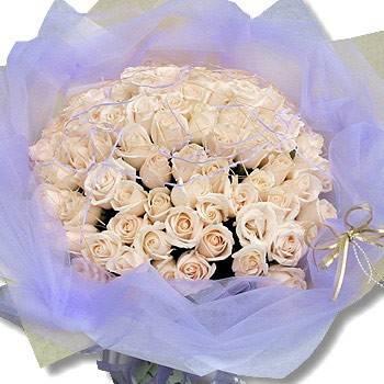 同品質花店最便宜-【永恆的愛】99朵白玫瑰花束