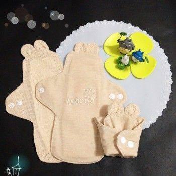 小物宅配-S小號20cm Lohogo可愛兔子耳朵布衛生棉/有機環保可洗小流量衛生棉/環保可水洗重覆使用 Lohogo樂活趣