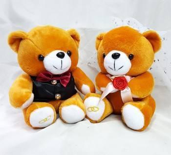 7吋婚侶熊一對