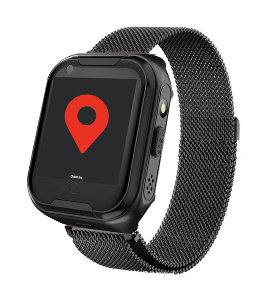 ED1000 全球通老人手機 (失智老人GPS/SOS 求救定位手錶)(黑色米蘭吉斯)