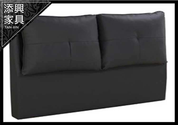 【床】 【添興家具】 A575-2 波士頓 5 尺暗灰色耐燃皮 雙人床  大台北地區滿5千免運