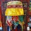 西藏【藏式五彩經筒勝利幢 吉祥幢幡五彩掛飾(蓬勃發展 事業成功)】一對計價