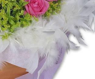 花束外圍加購圍羽毛