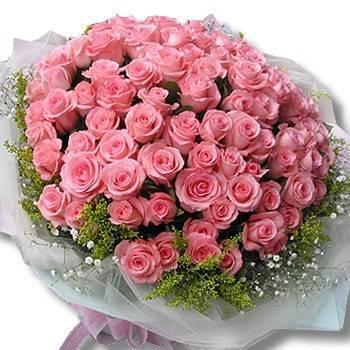 【特價花束】《粉愛你》99朵玫瑰花束