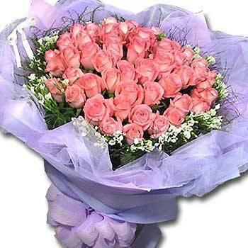 《愛你無悔》50朵玫瑰情人節花束