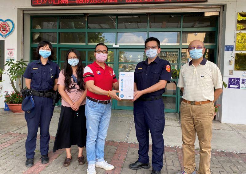 守護基層員警健康  三星警友會致贈13台「自動測溫手消毒一體機」