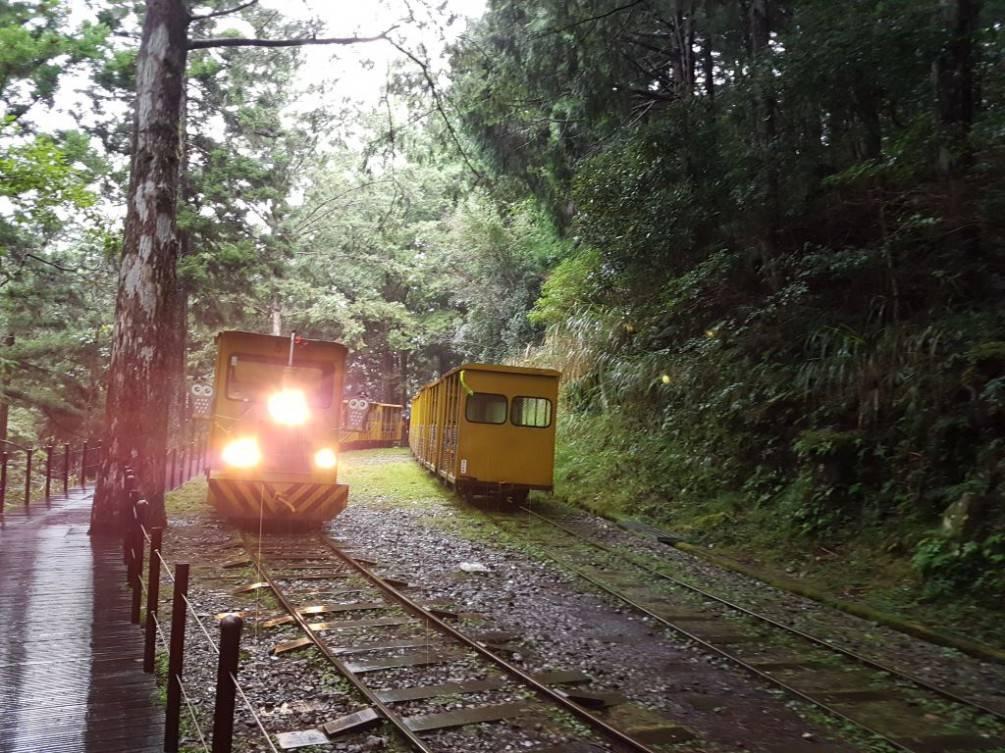 太平山「蹦蹦車」軌道下邊坡崩塌   故12月27日起暫時停駛