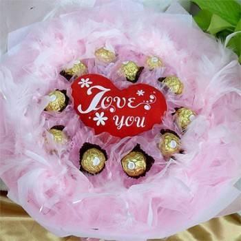 《Love You》真心表白11朵金莎巧克力花束