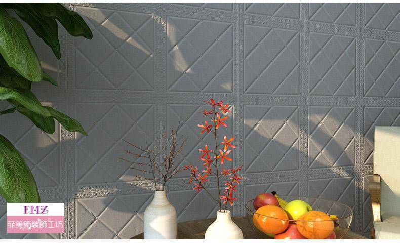 3D立體牆貼歐式幾何圖案M28