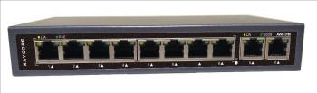 非網管型10*10/100/1000M RJ45連接埠 PoE 交換機