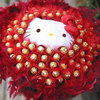 《熾熱愛情》代購kitty玩偶+99朵金莎巧克力花束