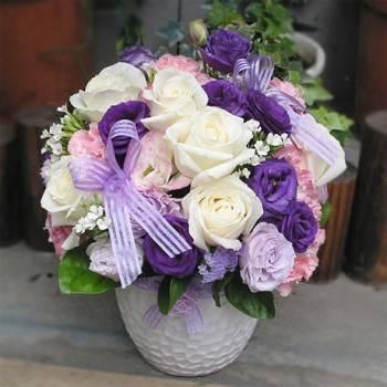 《紫戀迷情》設計師球型桌花