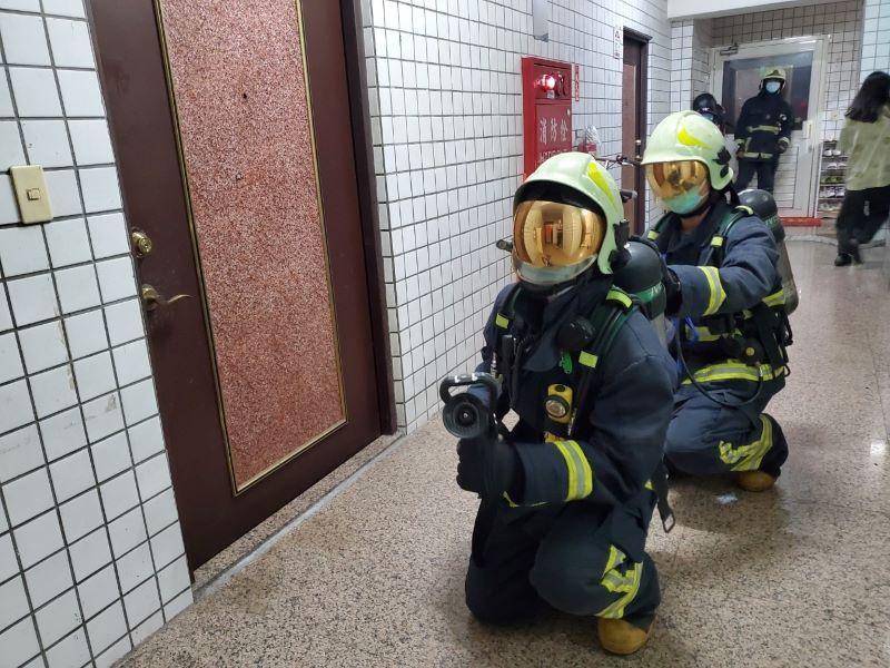 維護縣民生命財產安全  消防局加強住商大樓火災搶救演練及消防安檢