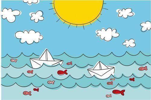 海洋及帆船0768