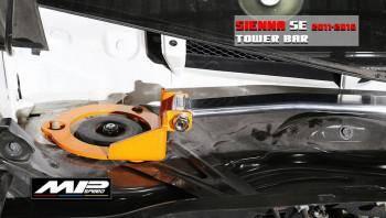 2011-2020 Toyota Sienna Front Strut Bar (Orange)-Summit