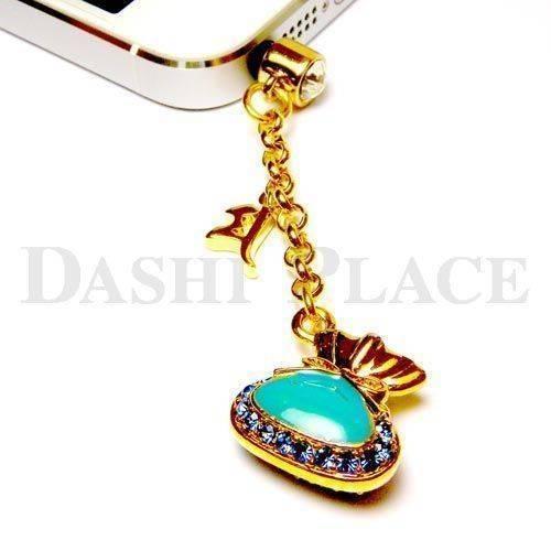 手機吊飾-金藍-財寶-種子字
