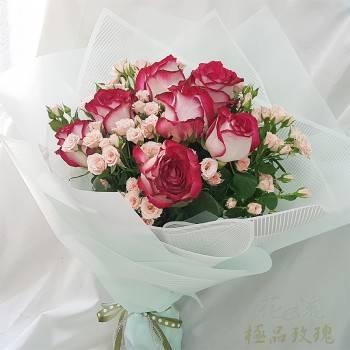 《珍愛一生》情人節進口大朵玫瑰花束