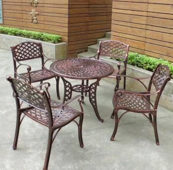 鑄鋁編織桌椅組