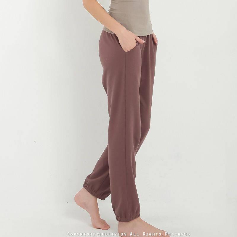 女棉質居家長褲