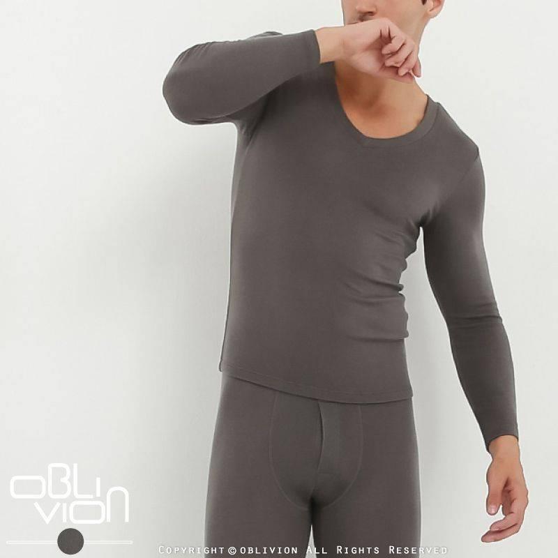 dralon 男舒適V領保暖衣