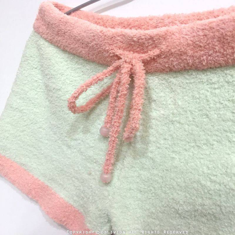 女暖綿綿腰抽繩短褲