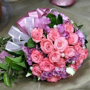 《嫣粉》新娘捧花