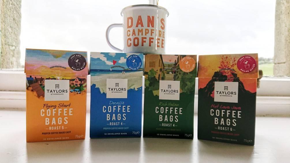 泰勒研發出茶包式咖啡Coffee Bags,茶包式咖啡不同於耳掛式咖啡以及膠囊咖啡,更輕鬆方便!