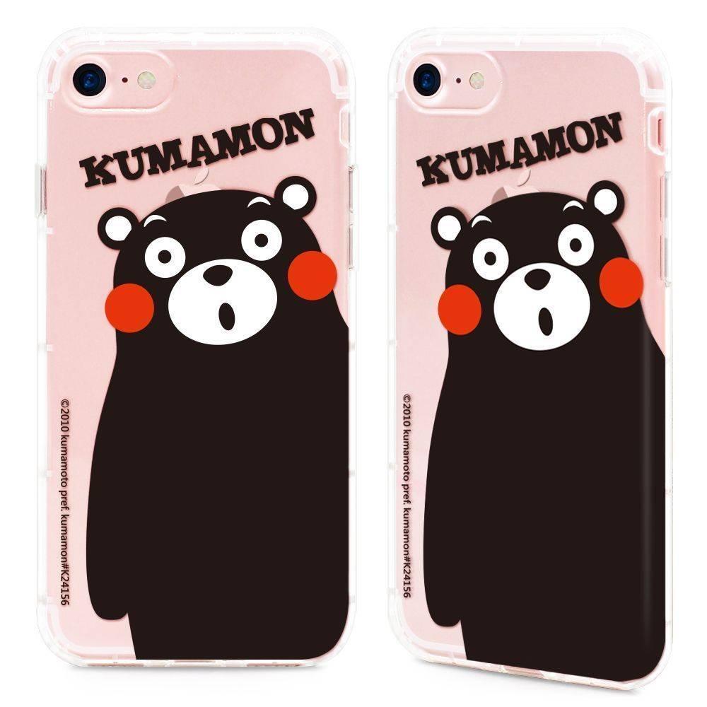 GARMMA Kumamon熊本熊 iPhone 7/8 Plus 5.5吋-空壓氣墊防摔保護軟殼-胖嘟嘟