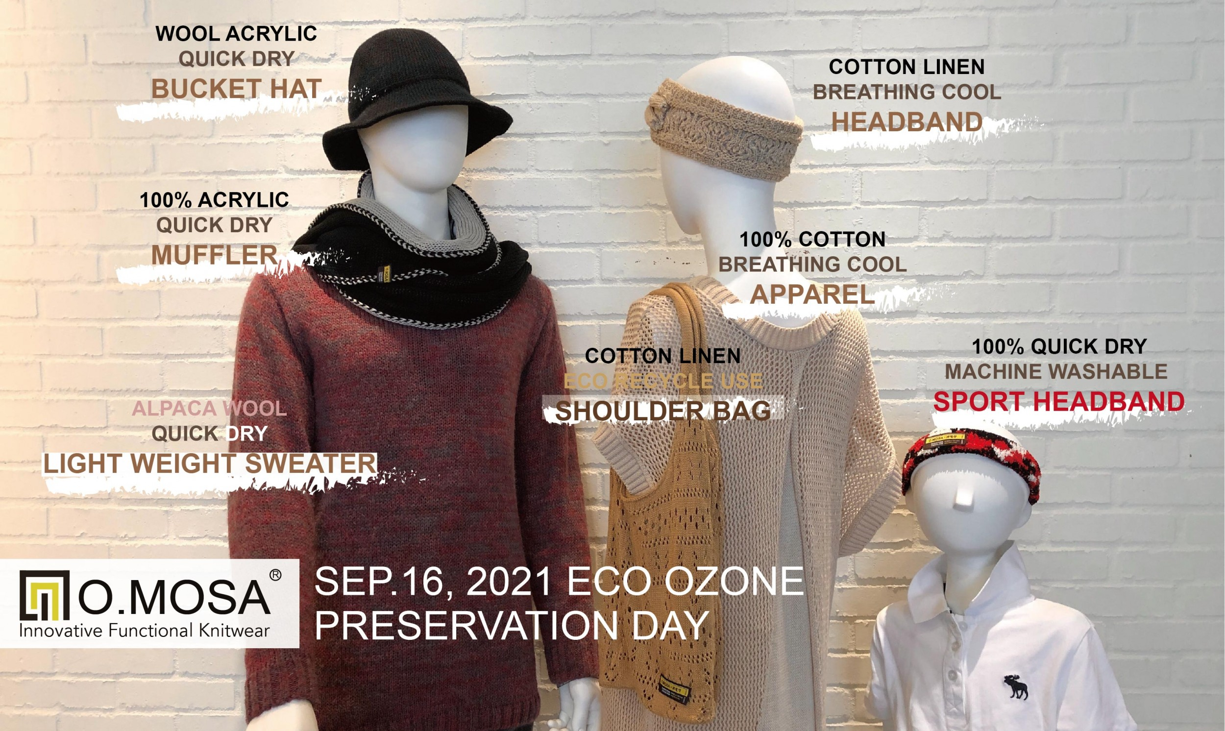 omosa taiwan knitting odm factory eco ozone preservation day