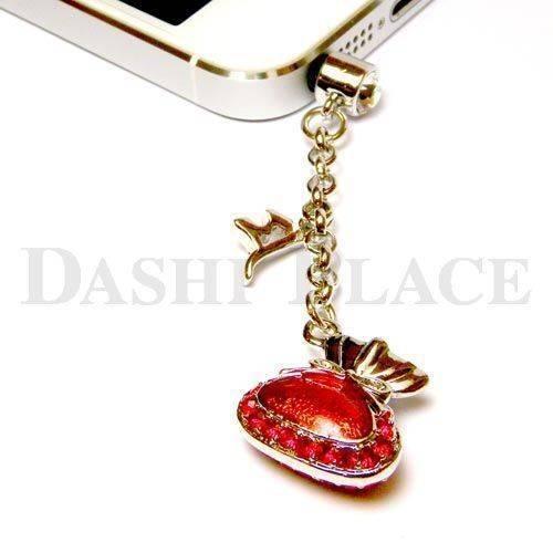 手機吊飾-銀紅-財寶-種子字