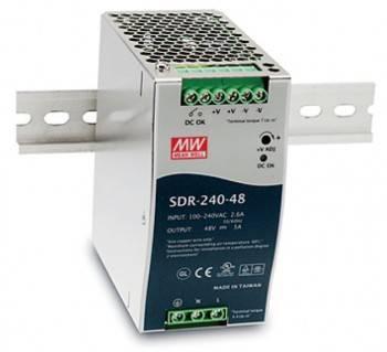 DIN Rail 軌道式電源供應器 240W-DC48V (SDR-240-48)