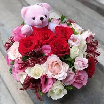 《嬌豔》設計師玫瑰桌花