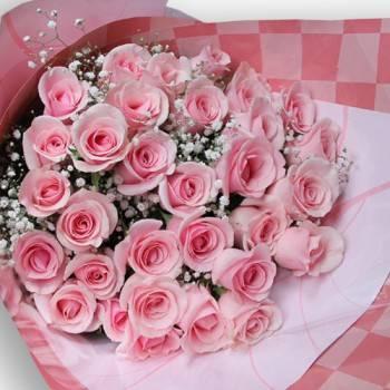 【深深的愛】情人節33朵鐵達尼玫瑰花束