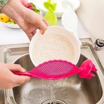 小物宅配-日式淘米器/瀝水器/不傷手洗米器/過濾網/洗米網/洗米棒 多功能攪拌棒 帶檔米板Lohogo樂活趣