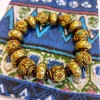 西藏風情【尼泊爾手工 廓爾喀勇士四無畏手工黃銅珠文創手環(時尚富寓意能量)】三種尺寸可選