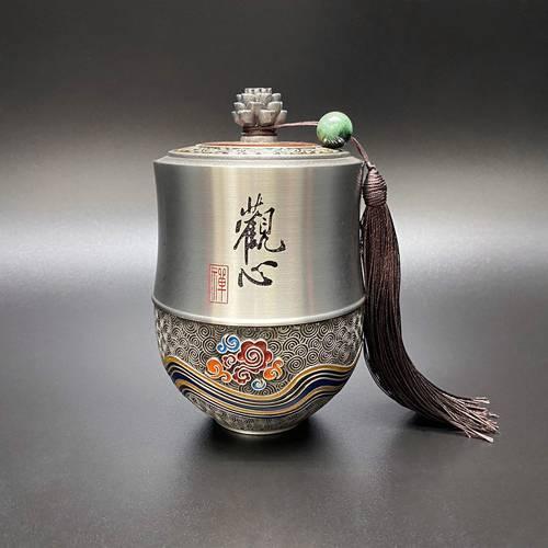 「觀心 」--高檔創意錫壺工藝品
