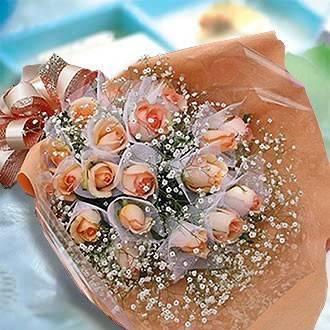 【戀愛情懷】情人節香檳玫瑰花束