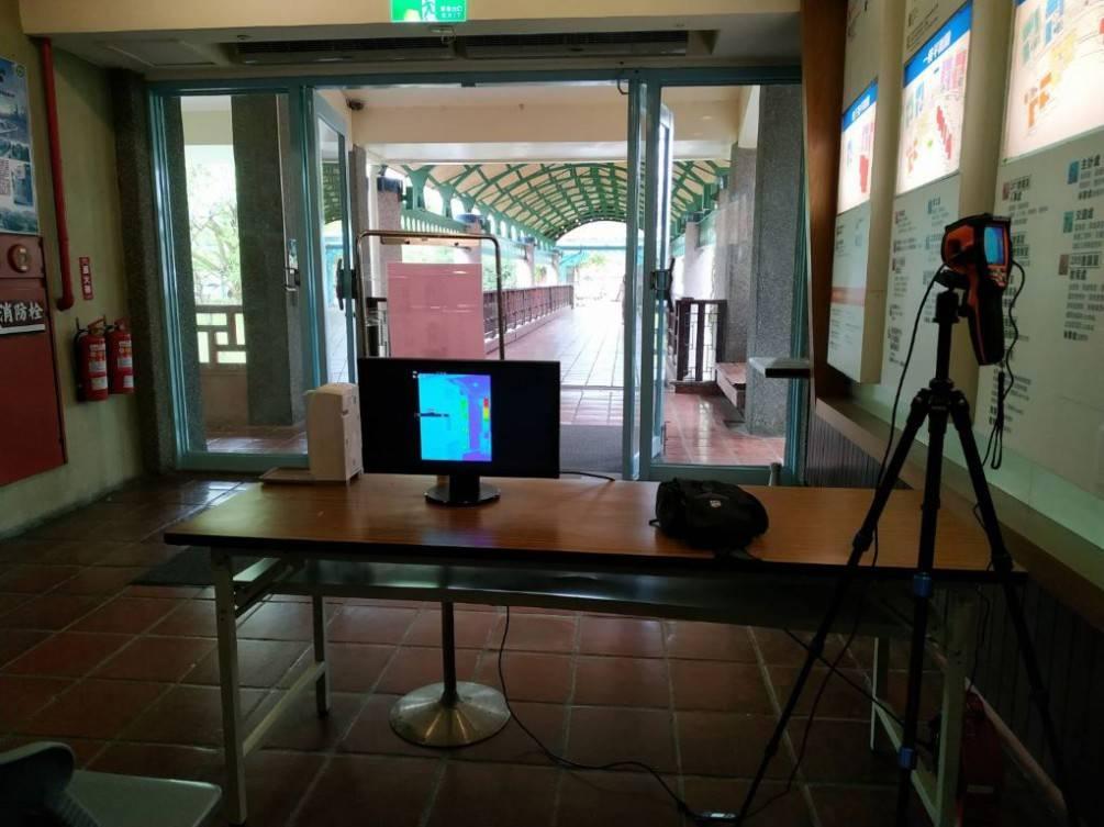 為守護洽公民眾健康  宜蘭縣政府設紅外線熱像儀監測