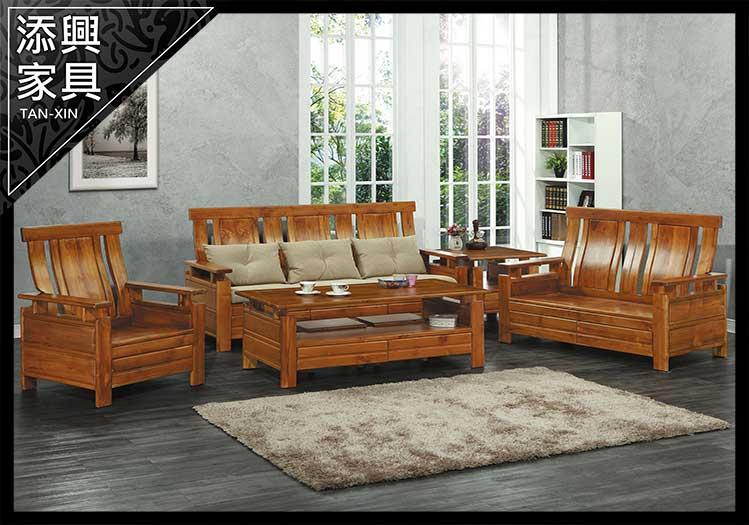【沙發】 【添興家具】 P302-13 小S2015組椅(1+2+3+大小茶几.不含坐墊) (可拆賣) 大台北地區滿5千免運