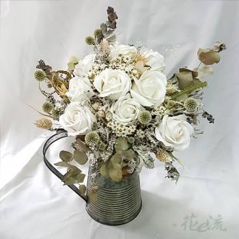 花壺裝飾乾燥花