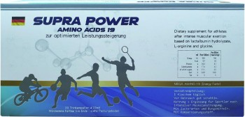 【胺速力】SUPRA POWER amino acids 19 - 高純度濃縮胺基酸補精 (25ml × 20瓶/盒)