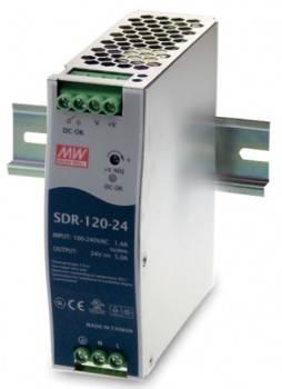 DIN Rail 軌道式電源供應器 120W/DC48V (SDR-120-48)